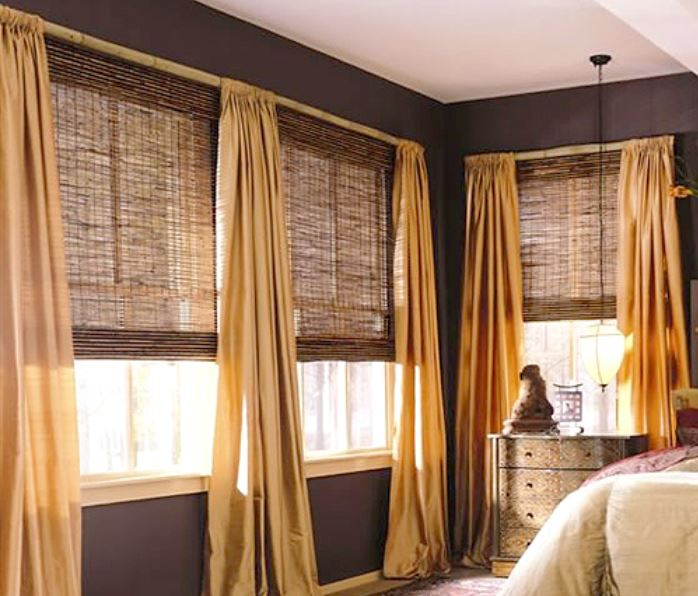 Colonial curtains window treatments